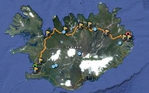 Leiðinn og gystistaðir á Islandi